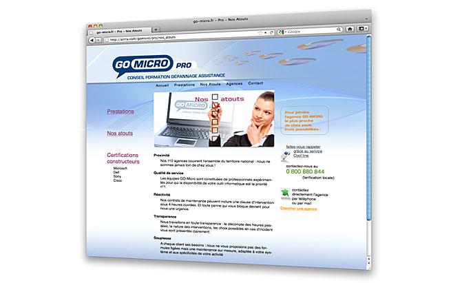 AIRRIA - conception et design du site internet - Go Micro Pro