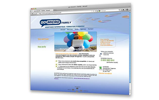 AIRRIA - conception et design du site internet - Go Micro Family