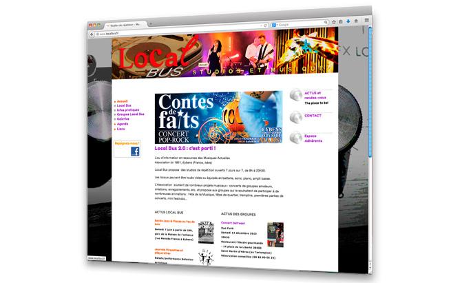 LocalBus design du site web - page accueil