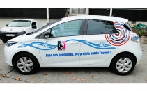 Degaud- design covering auto zoé électrique-vue latérale